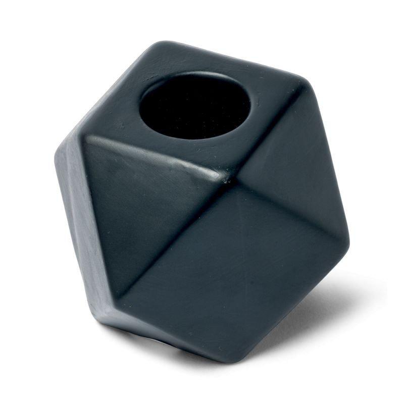 Bougeoir octogonal couleur cuivre - 1 unité