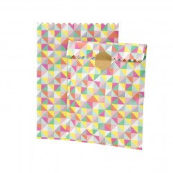 sachet papier géométrique - 10 unités