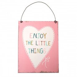 """PLAQUE """" ENJOY THE LITTLE THINGS """""""
