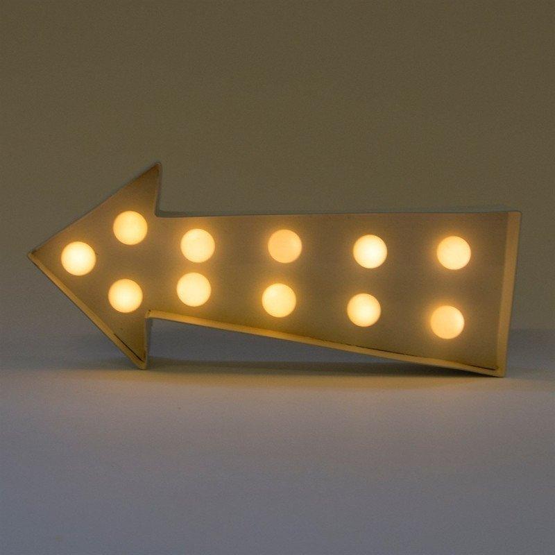 Flèche lumineuse métal blanchi