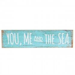 Panneau bois mariage à la plage you me and the sea