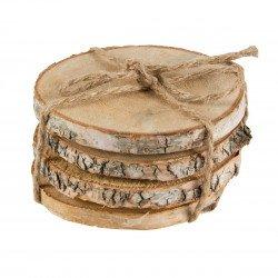 Ronds de bois naturels bohême- 4 unités