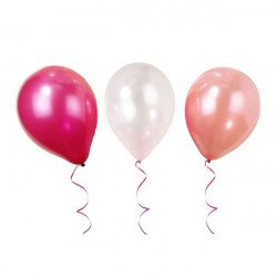 Lot de 12 ballons nuances de rose