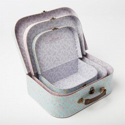 Valises fleuries set de 3