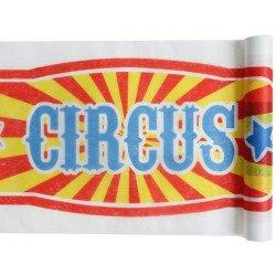 chemin de table cirque multicolore