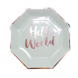 "8 Assiettes ""Hello World"""