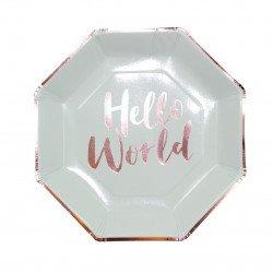 "Assiettes ""Hello World"""
