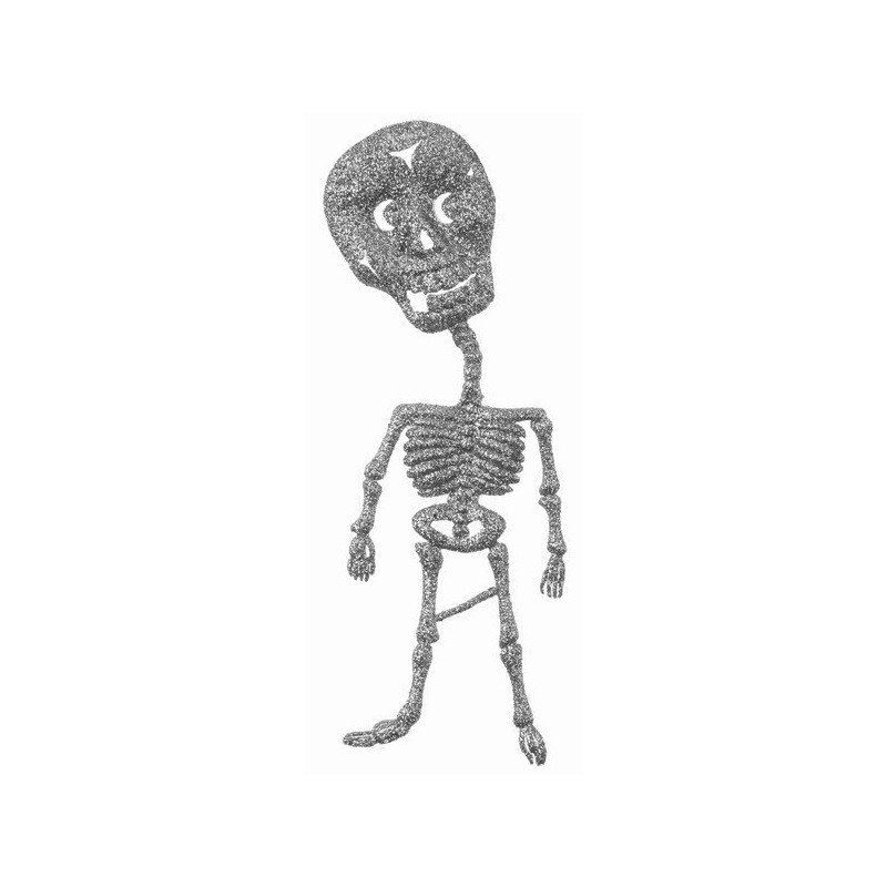 squelette argent pailleté- 2 pièces