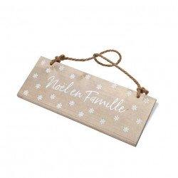 """Pancarte en bois """"Noel en Famille"""""""