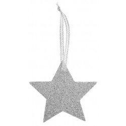 6 étoiles pailletées or ou argent - Argent