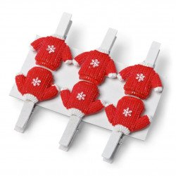 6 petites pinces pull Noël