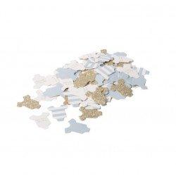 100 Confettis Petit Body Bébé - Bleu ciel
