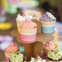 25 Cupcakes roses ou bleus