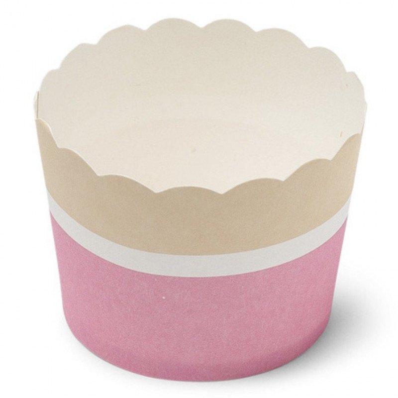CAKES CUP CARTON FRAISE  OU ICE BLUE