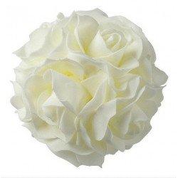 Boule de roses blanches - 12,5 cm