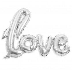 """Ballon """"love"""" géant - Argent"""