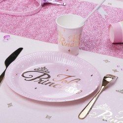 Assiettes Princesse rose & or