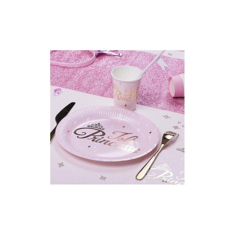 Assiettes Princesse rose & or