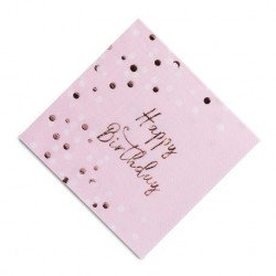 "Serviettes ""Happy Birthday"" Confettis (x16)"