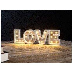 """mot """"LOVE"""" en lettres lumineuses"""
