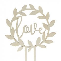 "Cake Topper ""Love"" Bois"