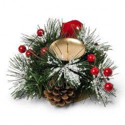 Bougeoir traditionnel de Noël