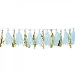 Guirlande tassel Bleue & Gold
