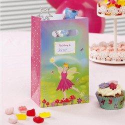 5 sacs à bonbons Fée Rose