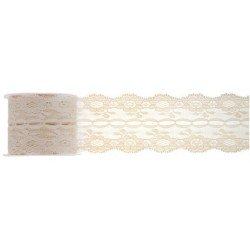 Ruban dentelle ivoire 50 mm
