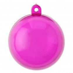 6 boules transparentes - 4 cm