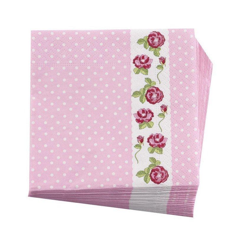 Serviettes en papier fleuries