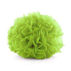 Pompons papier de soie (x6) - Vert pomme