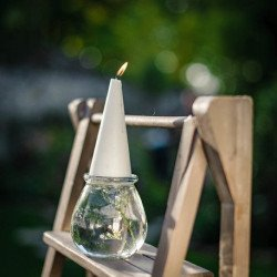 Vase photophore bas rond