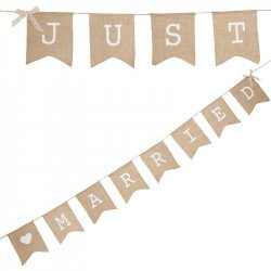 "Banderole jute ""Just Married"""