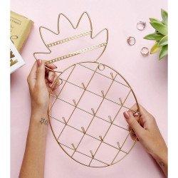 Porte-bijoux ananas or