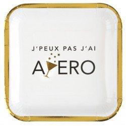 """Assiettes """"Apéro Party"""" (x10)"""