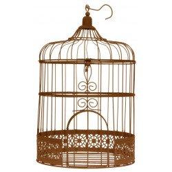 Cage à oiseaux rouille