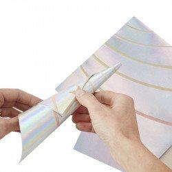 Serviettes iridescentes pliage (x10)