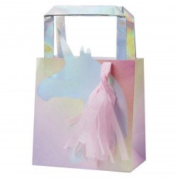 Sacs cadeaux Licorne (x5)