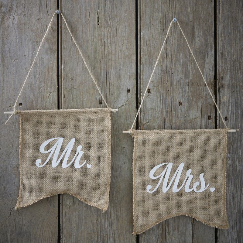 Drapeaux Mr & Mrs