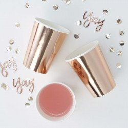 8 Gobelets rose gold