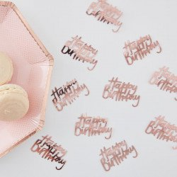 "Confettis ""Happy Birthday"" rose gold"
