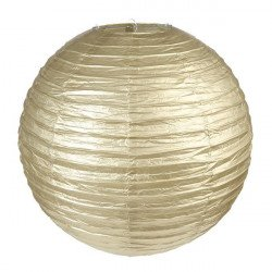 2 Lanternes métallisées Or