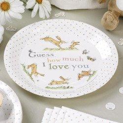 8 assiettes Petit Lapin Pastel