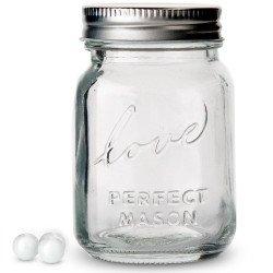 Pot en verre Love Mason jar