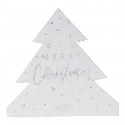 Serviettes Sapin de Noël (x16)