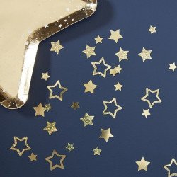 Confettis de table Etoiles Or