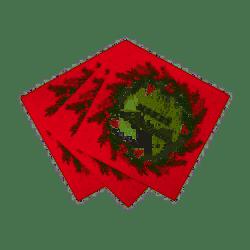 Serviettes couronne de Noël (x20)