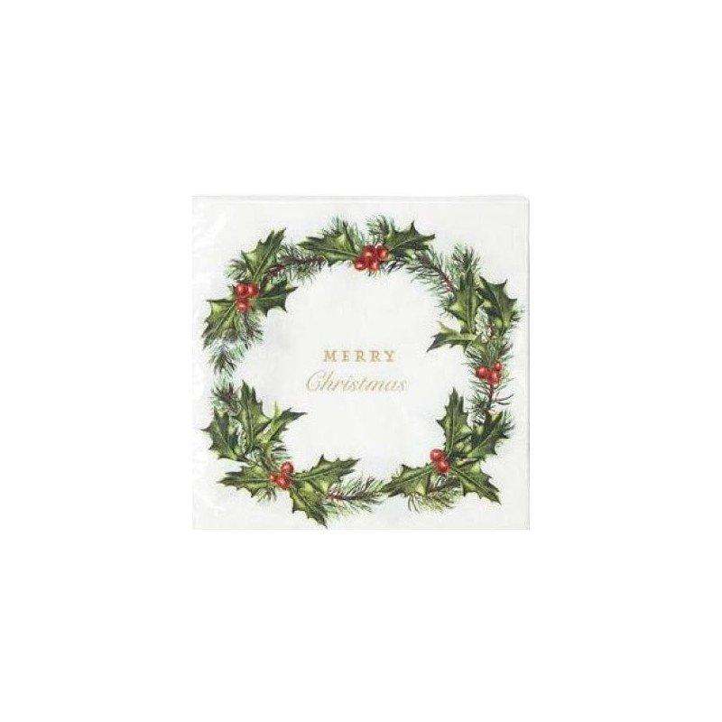 "20 Serviettes ""Merry Christmas"""