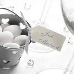 """Étiquettes """"Just Married"""" (x10) - Ivoire"""